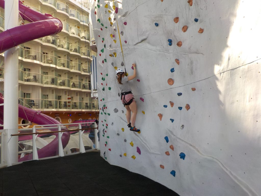 Activities Harmony of the Seas include Rock Climbing Walll