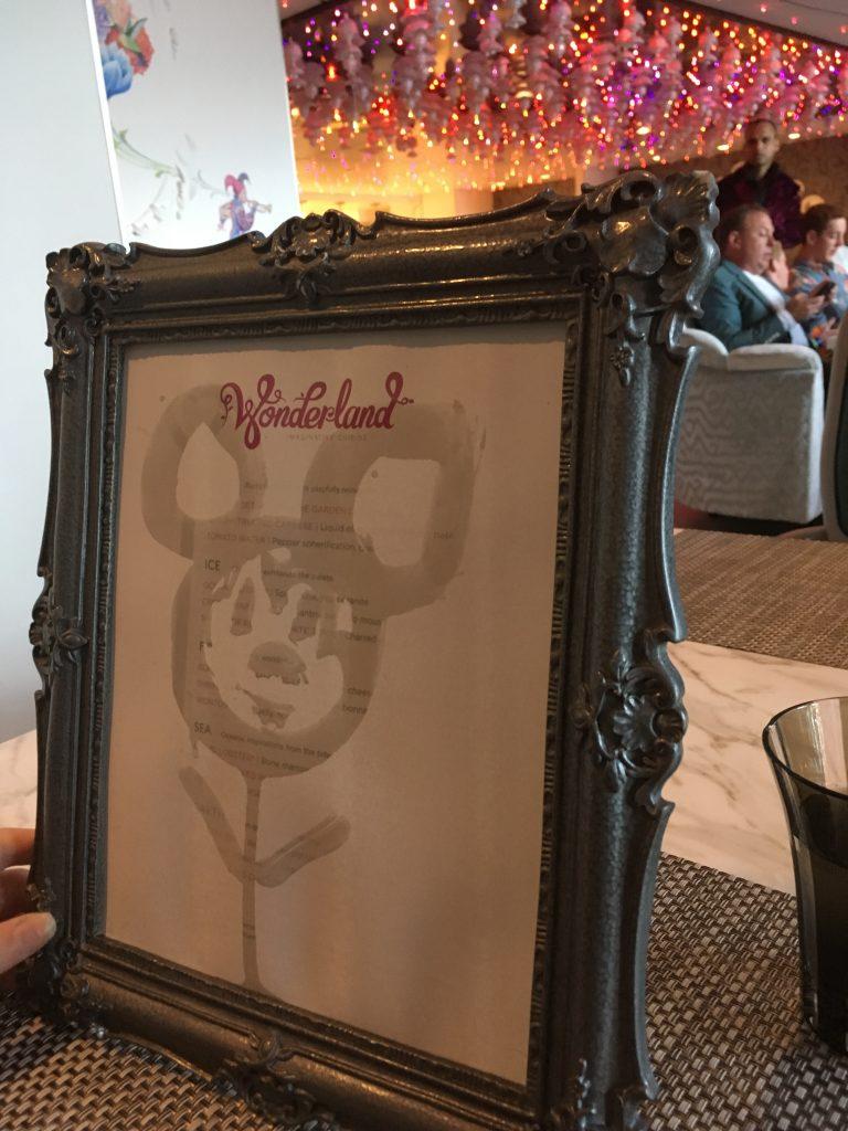 Wonderland on Harmony of the Seas painting menu