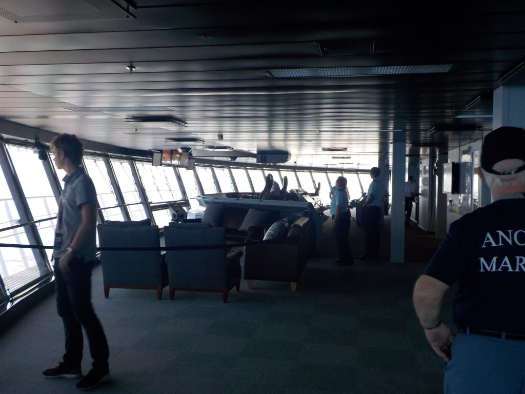 Behind the Scenes on the bridge Allure of the Seas