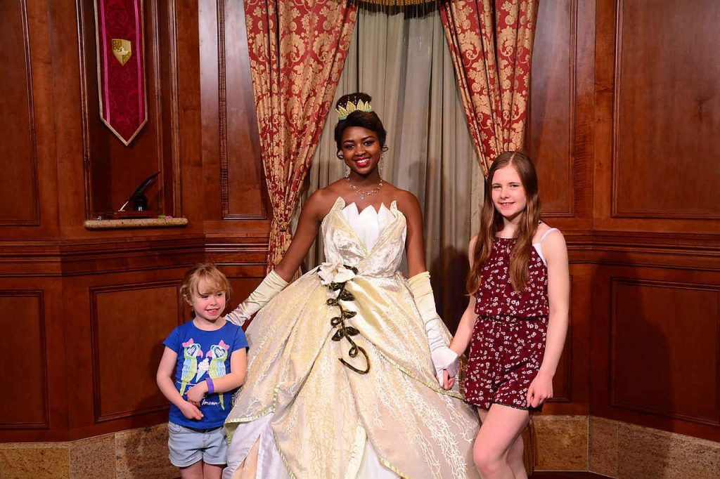 Meeting Tiana Magic Kingdom