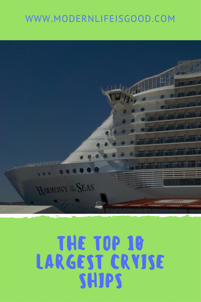 They are turning into floating cities with over 6000 passengers & 2000 crew. These are the 10 largest cruise ships in the World. Our Top 10 has been updated for 2017 with 2 new entries and a first for MSC.