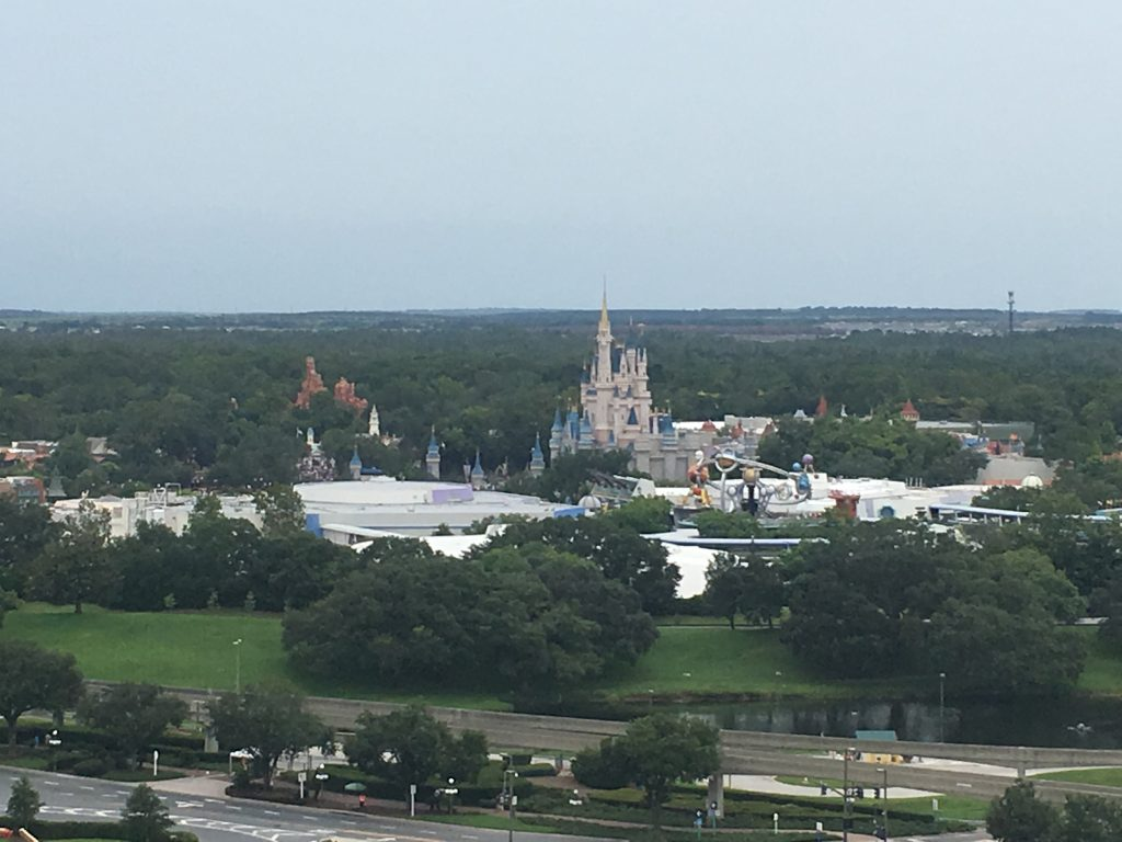 View from California Grill Balcony Disney Contemporary resort