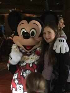 Ohana Best Friend Breakfast at Disney's Polynesian Village Resort meeting Mickey Mouse