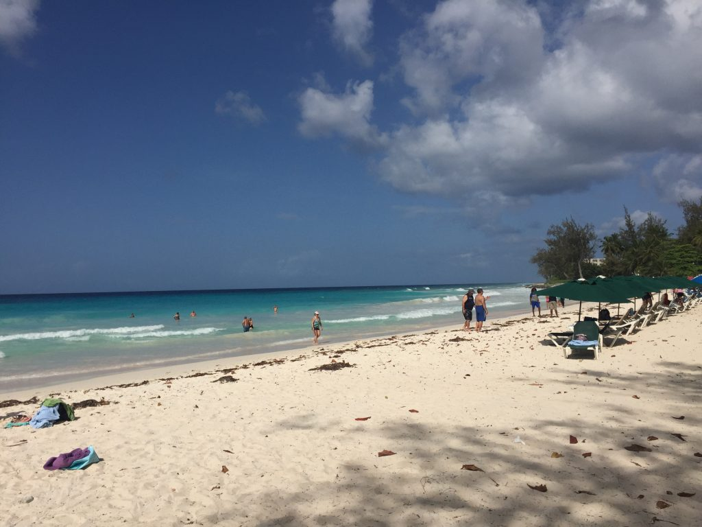 Beach hopping in barbados
