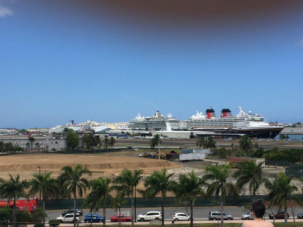 Cruise ships docked Puerto rico
