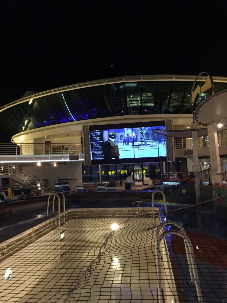 Pool Deck Jewel of the Seas at night