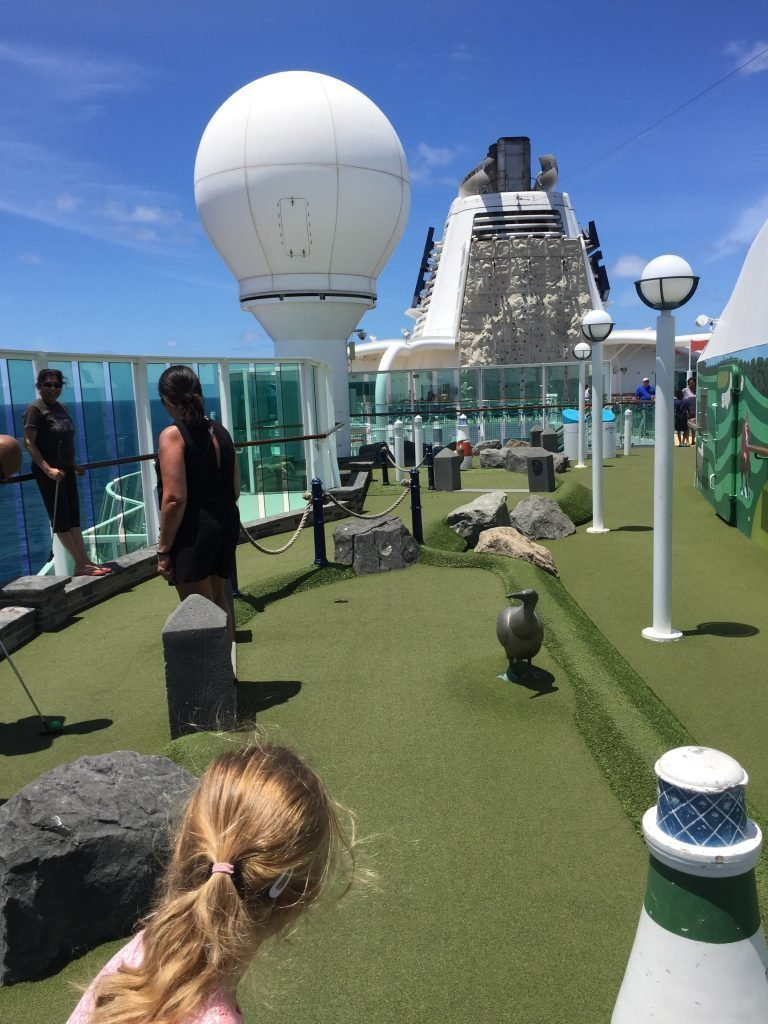 Golf and Rock Climbing jewel of the Seas