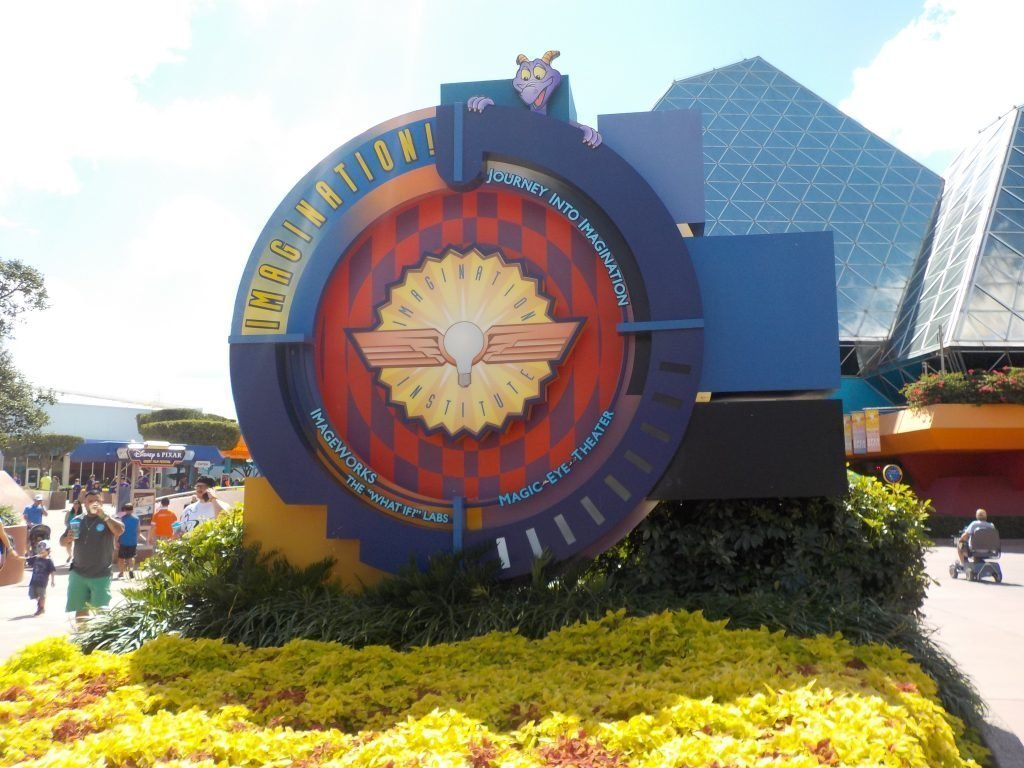 Imagination pavilion EPCOT featuring Figment Journey into Imagination