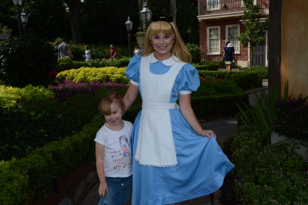 Meeting Alice in Wonderland Walt Disney World
