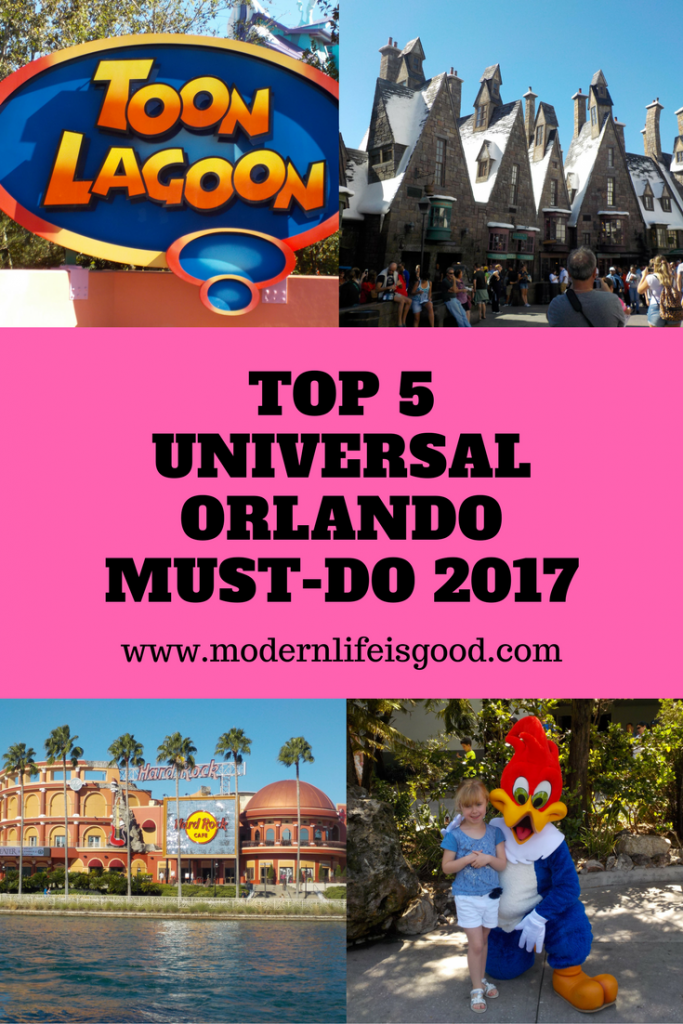 Top 5 Universal Orlando Must-Do 2017