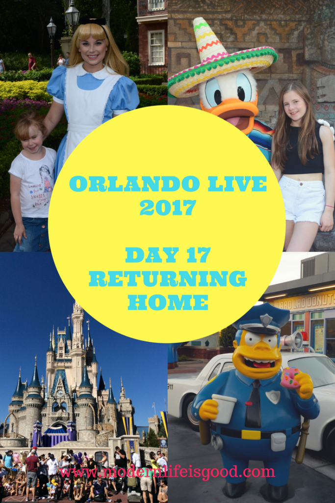 Orlando Live 2017 our Final Day. Returning home trouble with Disney Magical Express and Uber saves the day. Final trip to Magic Kingdom for essential shopping.