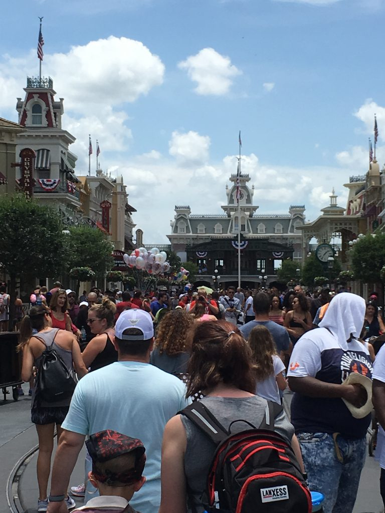 Crowds in Magic Kingdom July Top magic Kingdom Mistakes