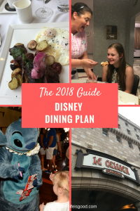 Updated Guide to the Disney Dining Plan including all your questions on Walt Disney World Dining Answered. Includes 2018 changes including alcoholic beverages.