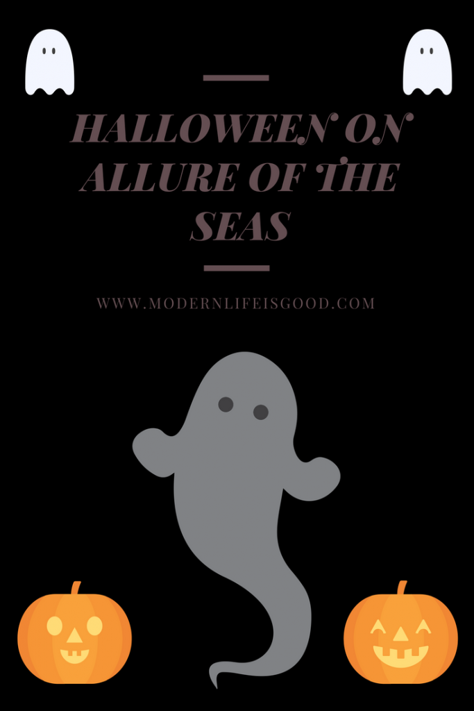 Review of Allure of the Seas Halloween Party including Halloween Parade, Haunted House. Halloween is a massive cruise ship party.