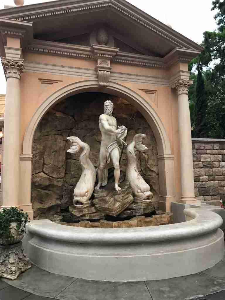 Italy Epcot World Showcase Neptune Statue