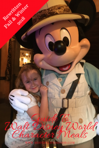 Guide to Walt Disney World Character Meals