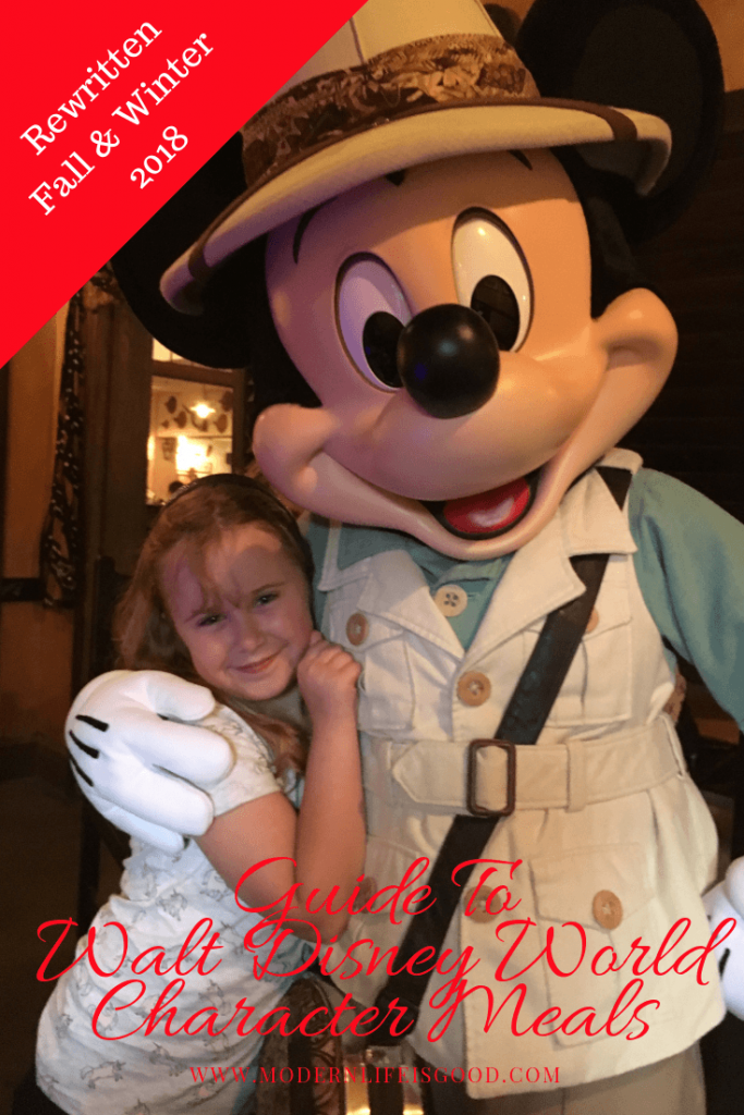 Guide to Walt Disney World Character Meals updated October 2018