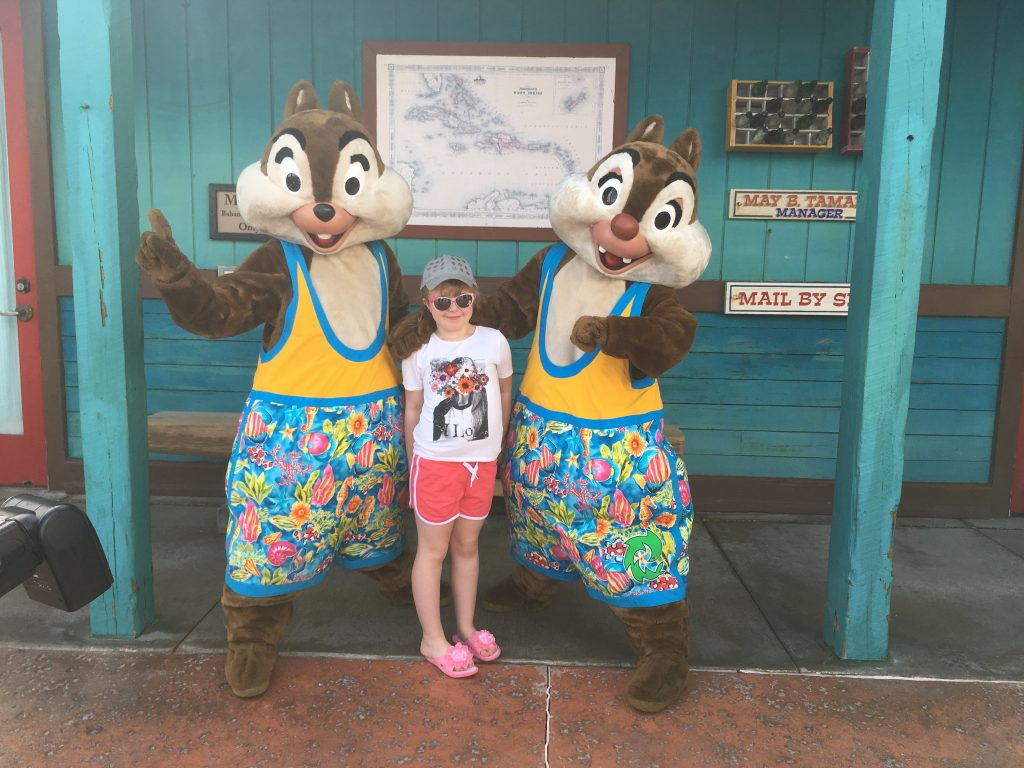 Chip & Dale meeting Disney characters Castaway Cay