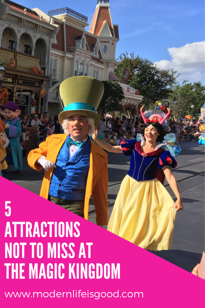 These are my Top 5 attractions I wouldn't want to miss on any vacation at The Magic Kingdom.