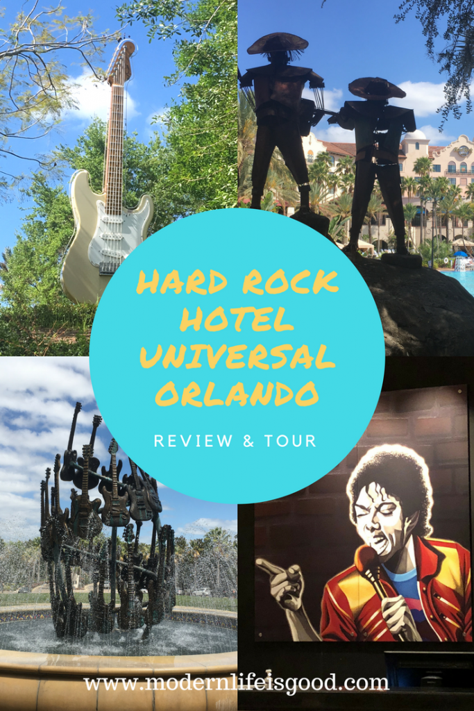 The Hard Rock Hotel at Universal Orlando opened in 2001 & is just a 5-minute walk from the Universal Orlando Theme Parks. Read our review of our recent stay in this luxurious Universal Orlando Resort Hotel and watch our video tour. Should you consider The Hard Rock Hotel Universal Orlando for your next Orlando vacation? We give our opinions.