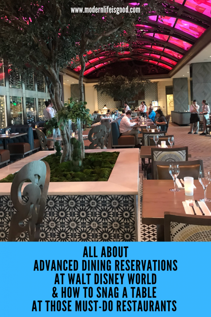 Disney's Advanced Dining Reservations, often called ADRs, are the system for making reservations for table service restaurants at Walt Disney World.