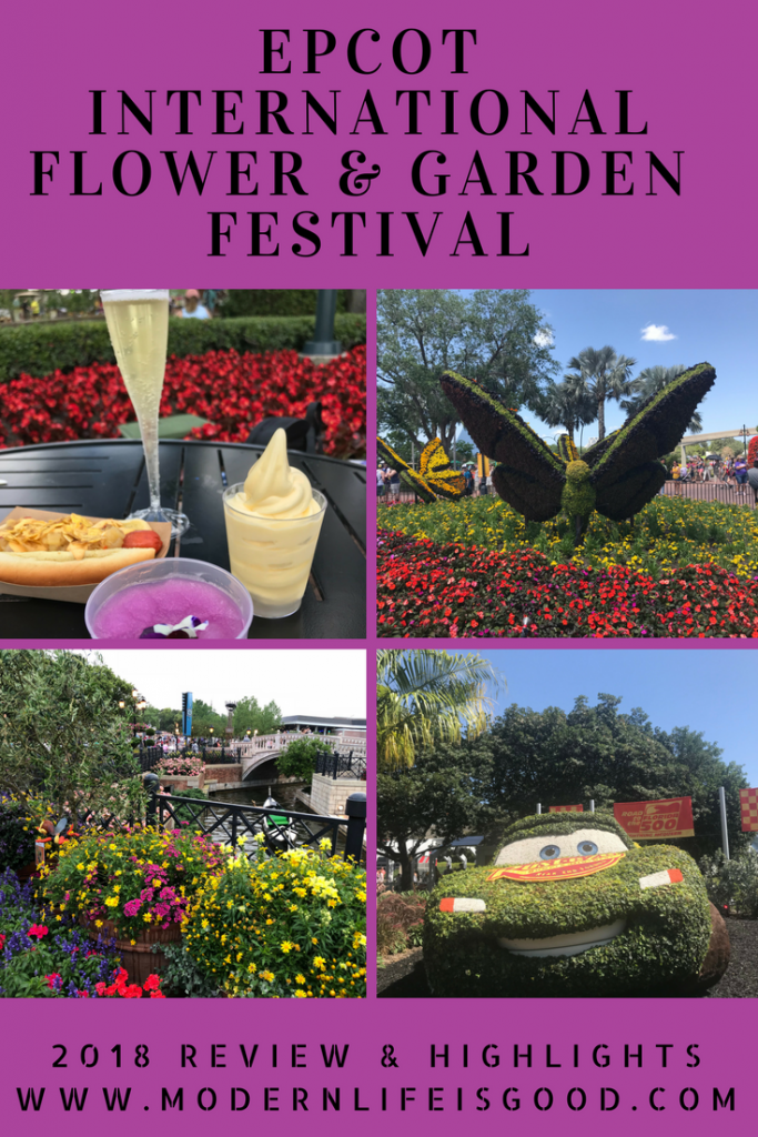 The Epcot International Flower & Garden Festival is one of the biggest events of the Walt Disney World Year. 2018 is the 25th year of the festival and the festivities will be held 28 February to 28 May. We have been lucky enough to visit and this review includes many of the stunning highlights we encountered. We have also included a stunning gallery from the festival.