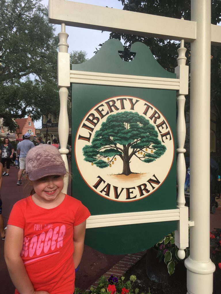 Dining options at the Magic Kingdom include Liberty Tree Tavern