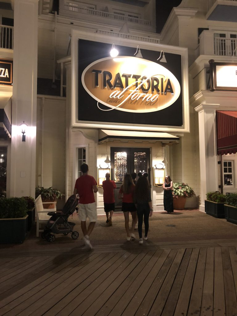 Disney's Boardwalk Guide to Disney Dining Plan Trattoria al Forno