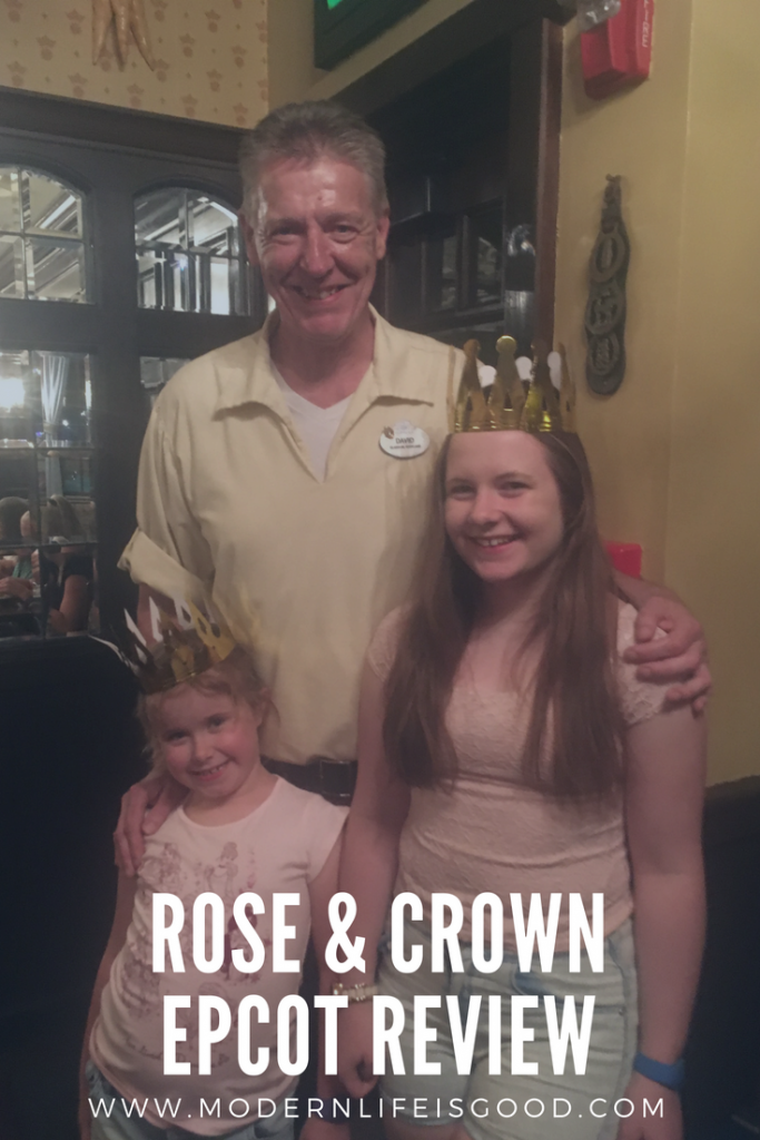 "Rose & Crown Epcot review. Located in the United Kingdom at Epcot's World Showcase The Rose & Crown is a traditional British Pub serving great beer and English ""themed"" food. We review this venue and taste Steak, Fried Fish & Yorkshire Pudding."