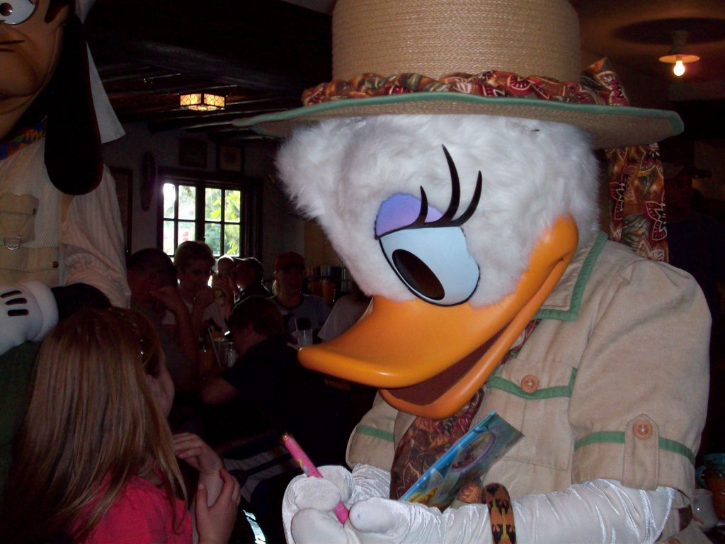 Donald's Safari Character meal at Tusker House