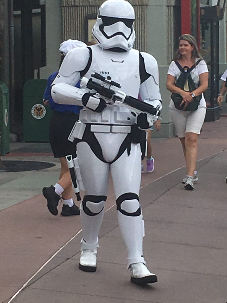 Storm Troopers patrolling Hollywood Studios Star Wars at Disney World