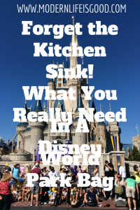 Disney World Park Bag What You Really Need