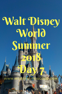 Disney World Summer 2018 Day 7 Birthday Celebrations