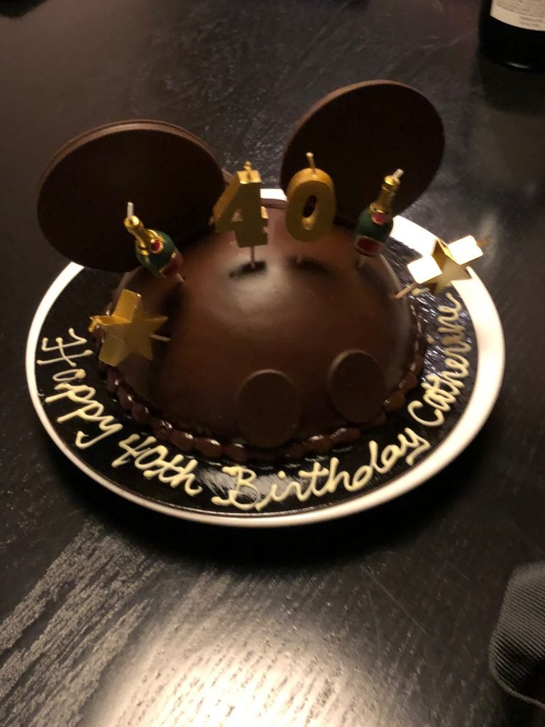 A Birthday Cake at Walt Disney World ordered from Boardwalk Bakery