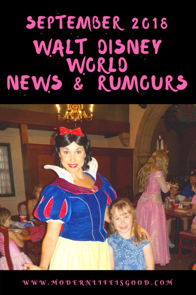 Our Walt Disney World News & Rumours September 2018 Summary will bring you up to date with all the latest events at Walt Disney World.