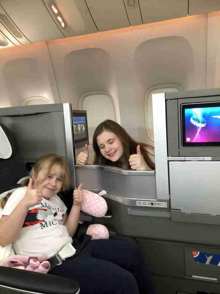 British Airways Club World travelling with kids