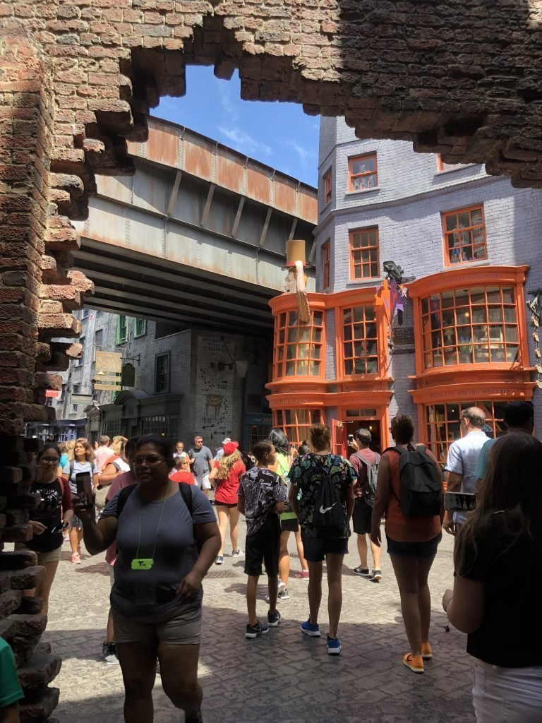 Entering Diagon Alley Universal Studios Florida