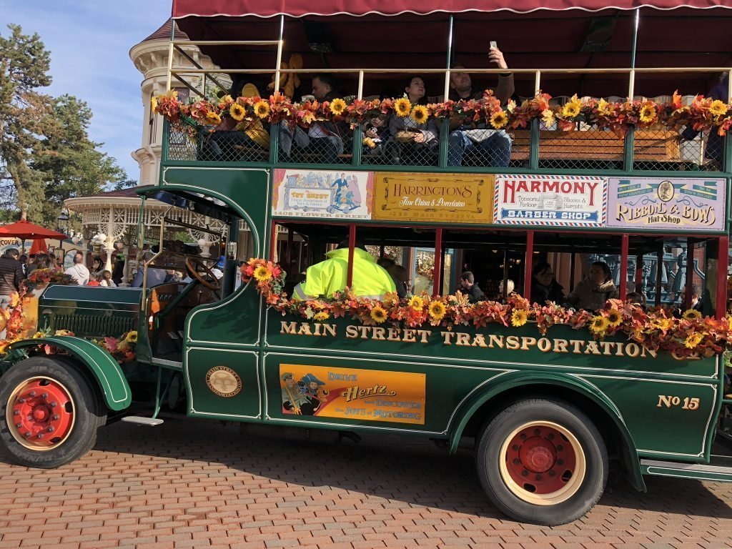 Transportation on Main Street USA Disneyland Paris