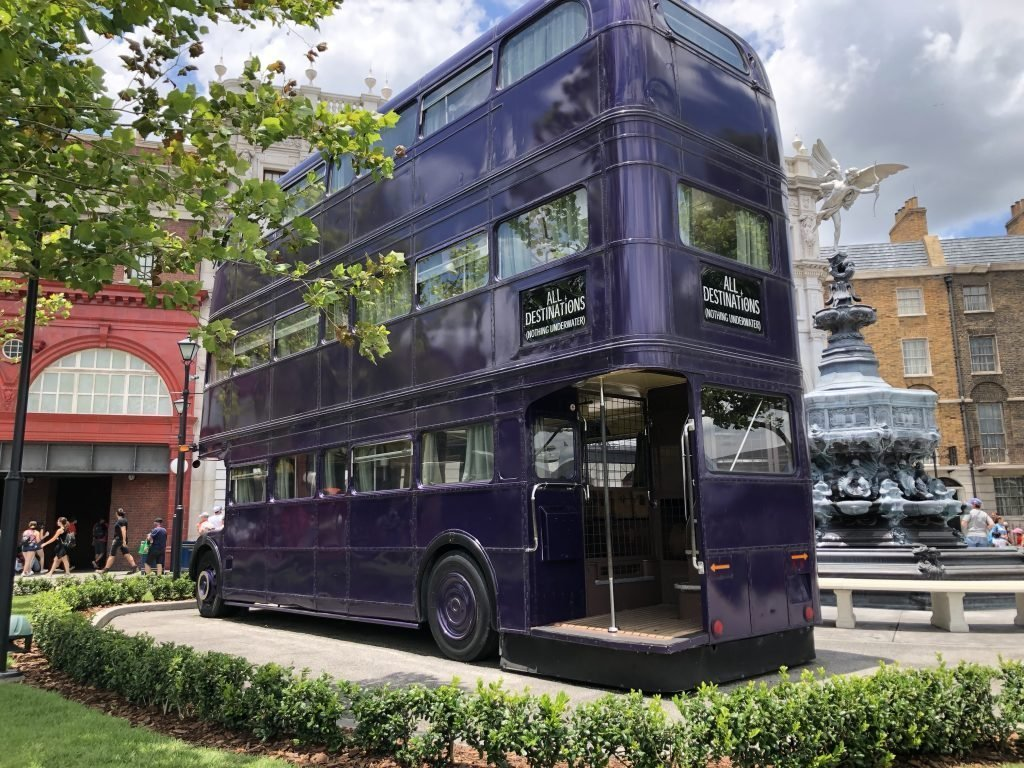 The Knight Bus at The Wizarding World of Harry Potter Universal Studios