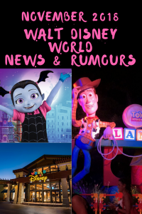 Walt Disney World News & Rumours November 2018