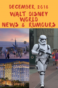 Our final update of 2018 includes details of new attractions and a host of names being announced for previously announced experiences. Our Walt Disney World News & Rumours December 2018 Summary will bring you up to date with all the latest events.