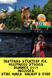 Hollywood Studios FastPass Summer 2019