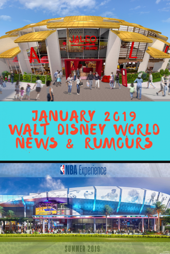 Walt Disney World news & Rumours January 2019