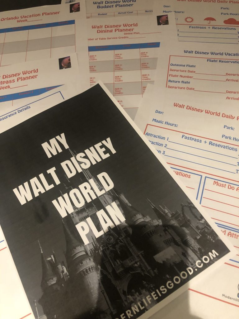Free Walt Disney World Planners to help plan your vacation
