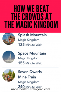 How we Beat the Crowds at The Magic Kingdom Tips & Tricks on what to do when facing massive crowds
