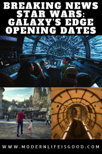 Unexpected and exciting news has been received today, we now have an official opening date for Star Wars: Galaxy Edge