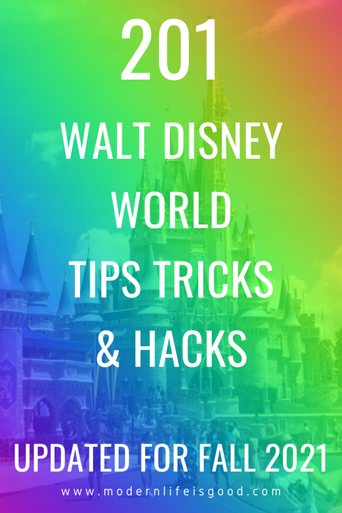 Our original version of this post was written in 2019 and has been shared almost 8000 times. However, many of the tips were no longer valid in 2021. We have updated this guide with lots of new Walt Disney World tips and tricks for 2021, so you can plan the best ever Walt Disney World vacation.