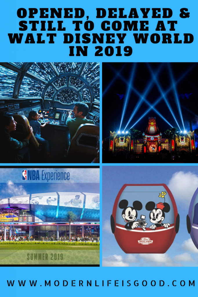 The following is what has opened, delayed & still to come at Walt Disney World in 2019.