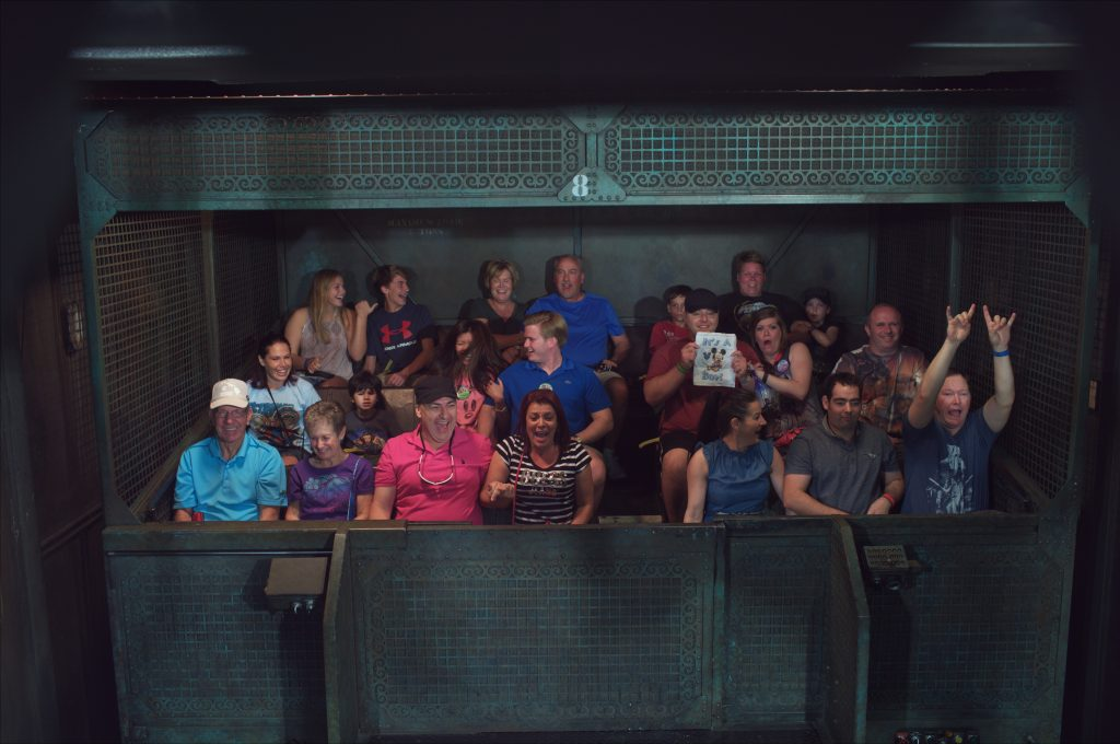 Announcing a baby boy on Tower of Terror