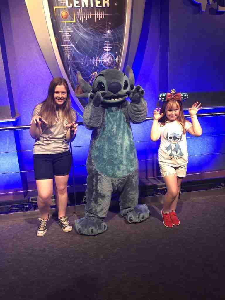 Meeting Stitch at The Magic Kingdom